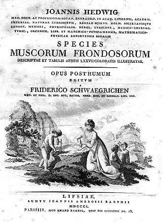 Johann Hedwig - Cover of Species Muscorum Frondosorum