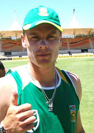 Johan Botha (cricketer) - Botha training with South Africa in 2009