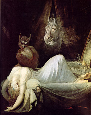 The Nightmare - Because of the popularity of the work, Fuseli painted a number of versions, including this c. 1790–91 variation.