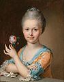 Johann Heinrich Tischbein Bildnis eines jungen Mädchens mit einer Rose.jpg