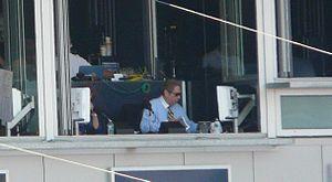 John Sterling (sportscaster) - John Sterling broadcasting a game.