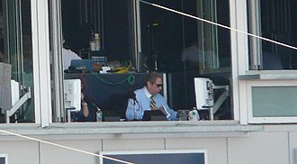 John Sterling (sportscaster) - John Sterling broadcasting a game.
