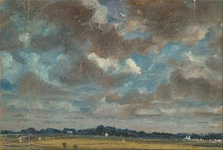 Extensive Landscape with Grey Cloud