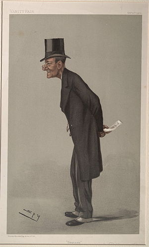 "Sir John Dillwyn-Llewellyn, 1st Baronet - ""Swansea"" As caricatured by Spy (Leslie Ward) in Vanity Fair, October 1900"