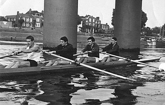 John Russell (rower) - John Russell (stroke) training with his Olympic Crew in 1964