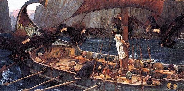 Odysseus lyssnar på sirenernas sång