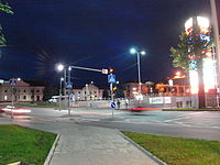 The town of Jõhvi at night