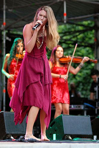 Joss Stone - Stone performing during a festival, as part of the Colour Me Free! World Tour