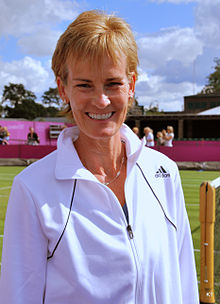Colour photograph of Judy Murray, taken in 2012