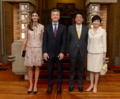 Juliana Awada Mauricio Macri Shinzo Abe and Akie Abe 20170519.png
