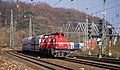Köln West HGK DE 72 - DE 71 met VTG kolenwagons (13032600183).jpg
