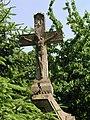 Kříž, Jaroměř-Pražské Předměstí, Národní, při domě č. p. 108 - detail vršku.jpg