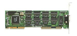 English: Graphics card with Trident TGUI9440.