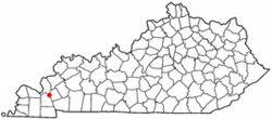 Location of Grand Rivers, Kentucky