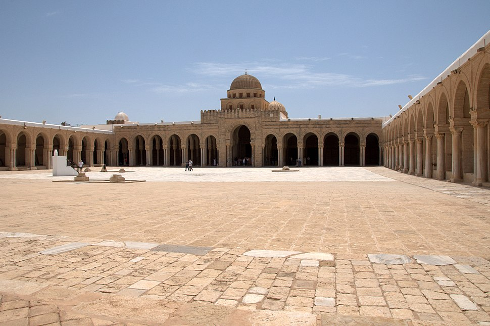 Kairouan%27s Great Mosque courtyard