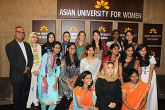 Asian University for Women - AUW students in 2012