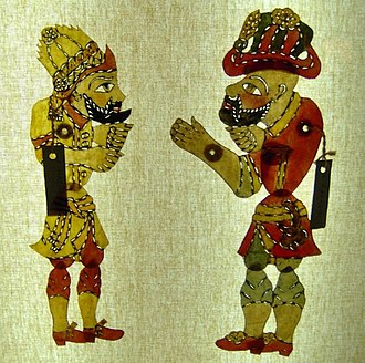 Shadow play - Shadow play Karagöz puppets from Turkey