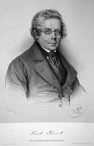 Karl Kreil - Karl Kreil, lithography by Adolf Dauthage, (1855).