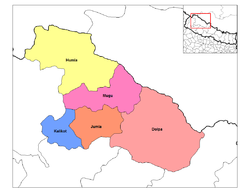 Distrikte in der Zone Karnali
