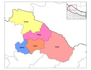 Karnali Zone - Image: Karnali districts