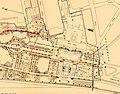 """Karte Ausschnitt Internationale Kunst- und große Gartenbau-Ausstellung Düsseldorf 1904; Nr. 40 Kunstpalast, Nr. 41 Restaurant Schievelbusch """"Zum Kunstpalast"""".jpg"""