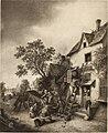 Katalog der Sammlung Baron Königswarter in Wien - II. Abteilung- Gemälde alte Meister. Adriaen van Ostade - Der Karren vor dem Bauernhaus (14577369979).jpg