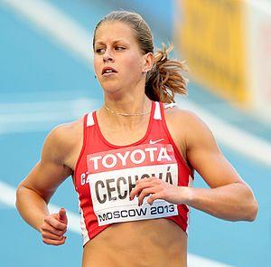 Kateřina Čechová - Kateřina Čechová at 2013 IAAF World Championships in Moscow