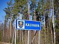 Kauhava municipal border sign.jpg