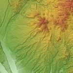 Kayagatake Volcano & Kurofuji Volcano Group Relief Map, SRTM-1.jpg