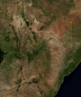 Il Kenya dal satellite