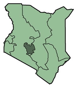 Location in Kenya.