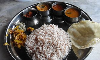 Chamarajanagar district - Image: Kerala Style Lunch at Gundlupet