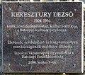 Keresztury Dezső plaque Tapolca Batsányi János tér.jpg