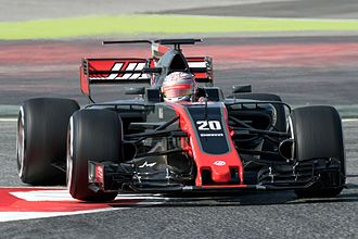 Haas F1 Team - Kevin Magnussen driving for Haas during 2017 preseason testing in Barcelona