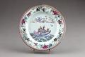Kinesisk porslins tallrik från 1730-1750 - Hallwylska museet - 95823.tif