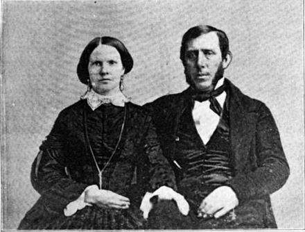 Jane and Samuel Kirkwood, 1852. Kirkwoods 1852.jpg