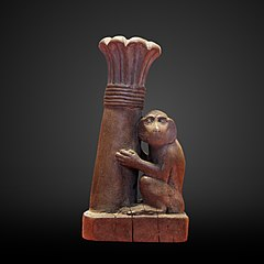 Kohl case as monkey with palm-E 7985