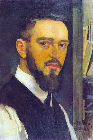 Konstantin Yuon - Self-portrait, 1912