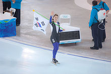 Korean Gold Medalist Lee Sang-Hwa - Womens 500M Speed Skating - Richmond Olympic Oval - British Columbia.jpg