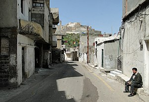 Al-Husn, Syria - An alley in the village from which the fortress could be seen