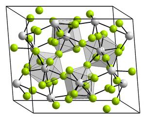 Zirconium tetrafluoride - Image: Kristallstruktur Uran(IV) fluorid