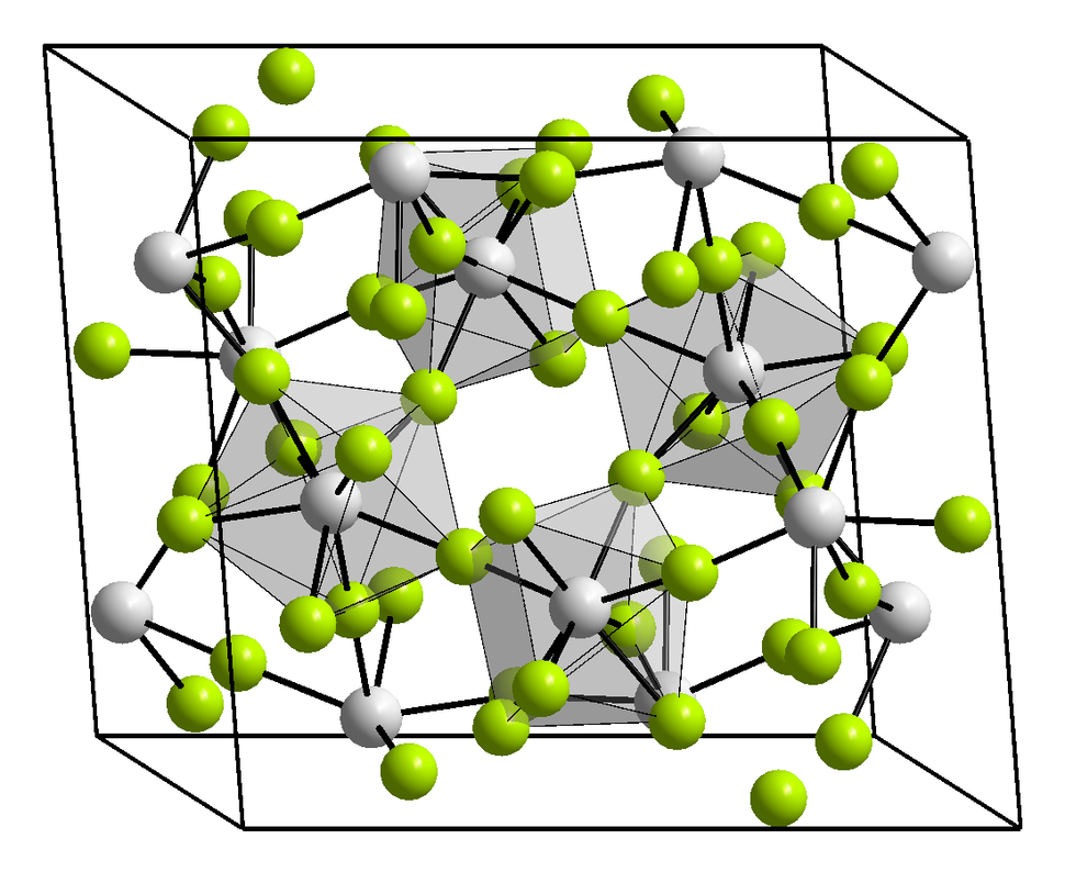 Kristallstruktur Uran(IV)-fluorid