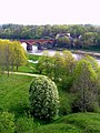 Kuldigas bridge from a tower - panoramio.jpg