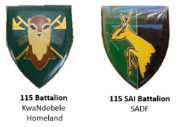 KwaNdebele and SADF 115 Battalion emblem.png