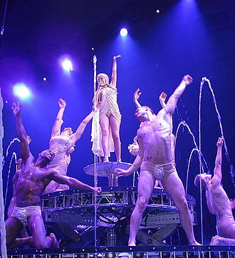 "All the Lovers - Minogue and her dancers during the performance of ""All the Lovers"" during 2011's Aphrodite: Les Folies Tour. It was the final performance of the concerts."
