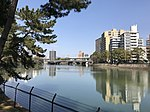 Kyobashigawa River from Shukkei Garden.jpg