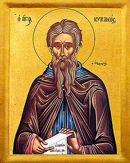 Cyriacus the Anchorite byzantine saint