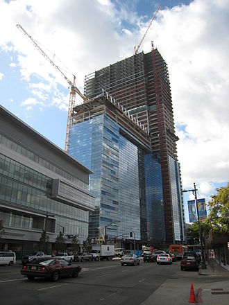 Earthquake-resistant structures - The Ritz-Carlton/JW Marriott hotel building engaging the advanced steel plate shear walls system, Los Angeles