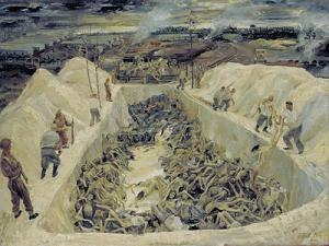 1945 in art - Image: LD 5105 Death pits Bergen Belsen art 1945