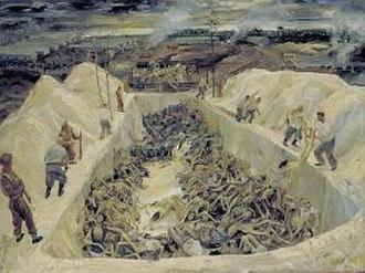1945 in art - Image: LD 5105 Death pits Bergen Belsen art 1945
